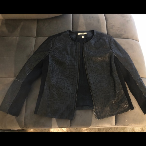 J brand black crocodile jacket